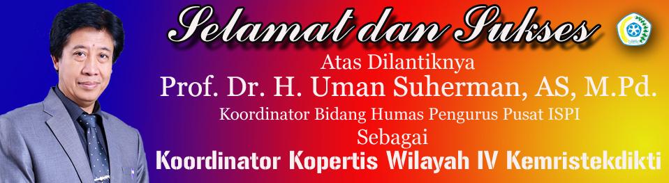 Prof. Uman Dilantik Menjadi Koordinator Kopertis Wilayah IV